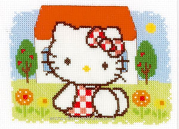 Hello Kitty Summer Cross Stitch Kit